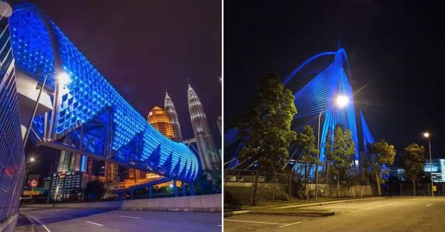 'Light It Blue', Tanda Penghargaan Terhadap Barisan Hadapan Negara
