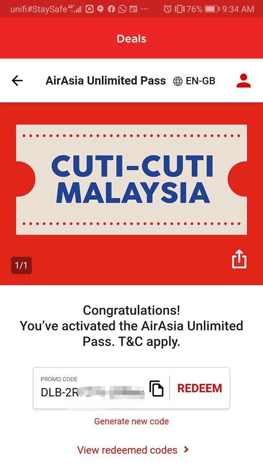 Lelaki Ini Kongsi 'Trick' Guna AirAsia Unlimited Pass Boleh Dapat 3 Tiket 100% Diskaun 4