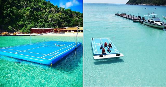 Pertama Di Dunia, Resort Di Pulau Redang Ini Tawar Bermain Badminton Di Lautan
