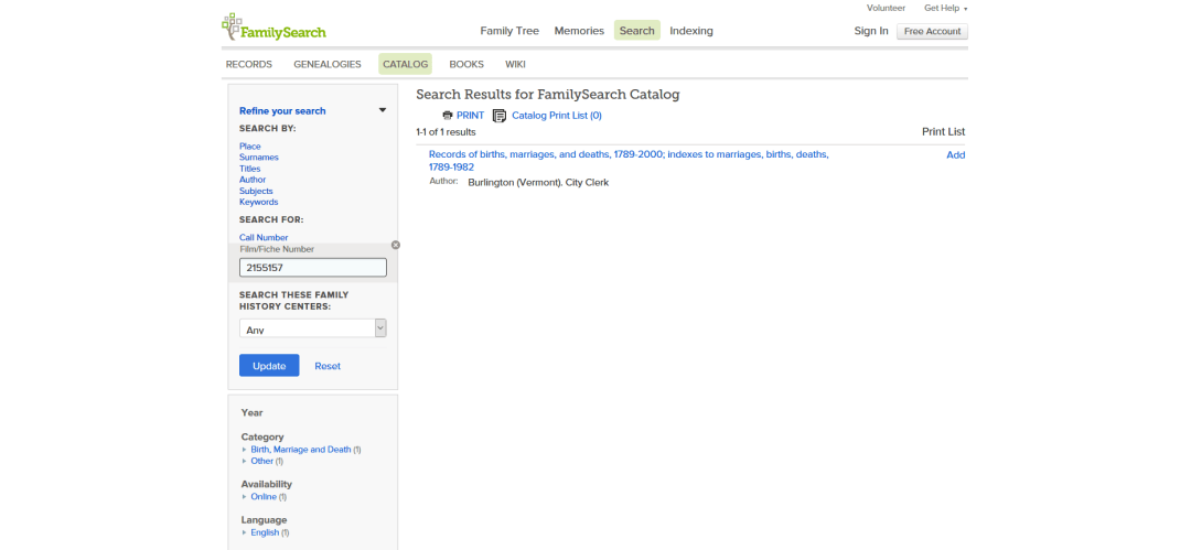 4 Catalog Search Results