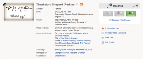 Amusing Names in the Family Tree