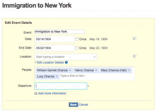 Geni Tips: Add Custom Event Details