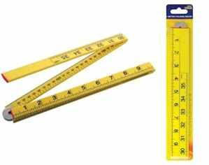 1mètre pliant Outil de mesure métrique marquage Impérial Long Builder Yard