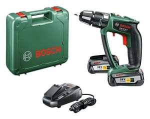 Bosch Perceuse-visseuse à percussion « Expert » sans fil PSB 18 LI-2 Ergonomic 2 batteries 18V 2,5 Ah, technologie Syneon 06039B0301