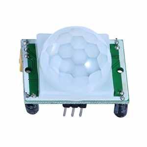 niceeshop(TM) HC SR501 Corps Humain électronique Module de Détection de Capteur Infrarouge Pyroélectrique Microcontrôleur Projets