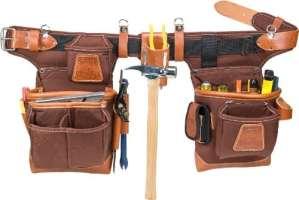 Occidental Leather 9855 Ceinture porte-outils Taille ajustable Café