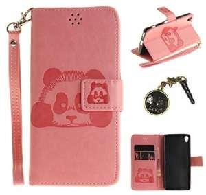 PU Cuir Coque Strass Case Etui Coque étui de portefeuille protection Coque Case Cas Cuir Swag Pour Sony Xperia XA +Bouchons de poussière (7VO)