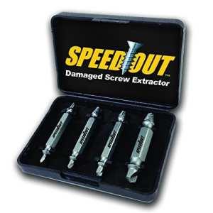 speedout Kit de démontage pour vis et boulons cassés et endommagés, Extracteur de vis spanate et bloquées (4pièces)
