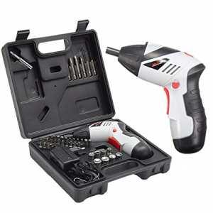 Perceuse Visseuse Sans Fil, GOCHANGE Portable Perceuse Rechargeable avec 45pcs d'Accessoires Electronique avec 1300 mAh, 4.8V Batterie