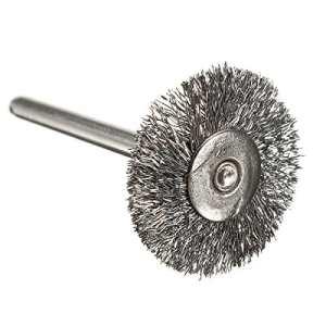 TOOGOO(R)De type T 22 mm brosses Un fil d'acier Roue Pour Dremel nombre de meuleuse: 3PCS
