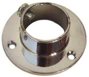 Support en plastique latéral pour armoire ronde bague en laiton finition Ø 25 mm