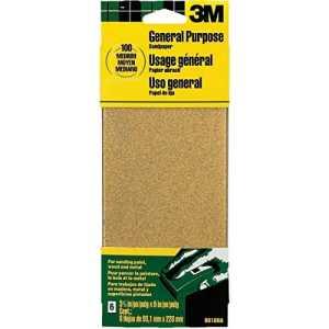 Aluminum Oxide Sandpaper 3.66″X9″ Medium Grit 6/Pkg Open Stk-