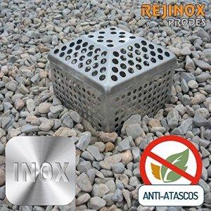 Pack de cadre paragravillas + Grille pyramidal en acier inoxydable de rejinox Prodes–Boîte 8unités