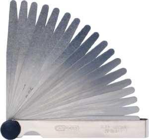 KS Tools 300.0600 Jauge d épaisseur en acier trempé Longueur 90 mm Lame ronde Epaisseur 1/100