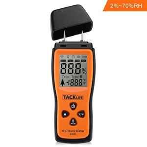 Tacklife WM01 Classique Humidimètre du Bois Détecteur d'humidité Testeur d'humidité pour le Bois avec Ecran LCD