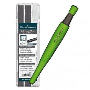 Marqueur de Big Dry® 1x de Pica + 12mines graphite + Blanc 6040for all de Construction Mines