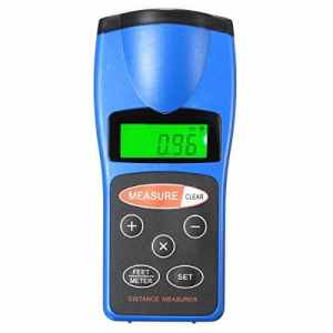 Mesure de Distance, GOCHANGE 18M Portable Ultrasonique IR Distance Mètre Numérique / Outil de Mesure de Distance/Surface/Volume
