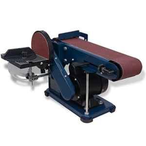 vidaXL Ponceuse à bande et à disque 375 W Machine à polir Ponceuse électrique ponçage