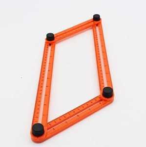 Angle-izer Modèle Outil, plastique Four-side multi-angle Instrument de mesure Angleizer Modèle de Règle pour Établis Builders Artisans