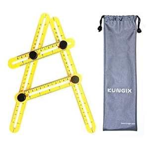 Multi-Angle Règle Ruler Mesure, Kungix Angleizer Template Tool Tous les Angles Formes en ABS