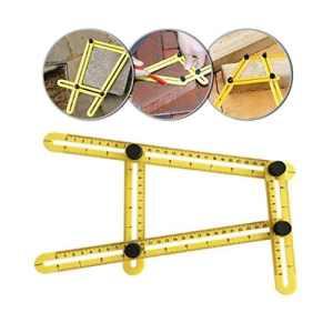 Angle-izer Outil de modèle, modèle de Règle à angles Mesure toutes les angles et formulaires pour Établis, Constructeurs, Artisans