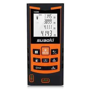 Suaoki S9 – 100m Télémètre Laser Multifonctionnel +/- 1.5mm haute précision, Etanche IP54 avec Ecran LCD Rétro-éclairé, mesure multi-mode