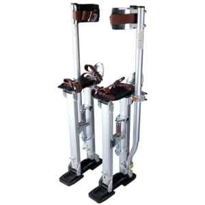 ReaseJoy 24″-40″(60-100cm) Adjustable Aluminium Drywall Stilts for Builder Decorator Painting Plastering Taping Silver