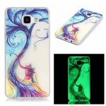Samsung Galaxy A5(2016) Silicone TPU en Coque de téléphone , Etsue Nuit Luminous Glow Series Transparent Case Soft Phone Case Cover pour Samsung Galaxy A5(2016), [Amoureux] Motif de Ultra-minces minigel Soft Case Retour étui de Mobile pour Samsung Galaxy A5(2016) + 1x Bleu stylet + 1x Bling poussière plug (couleurs aléatoires)