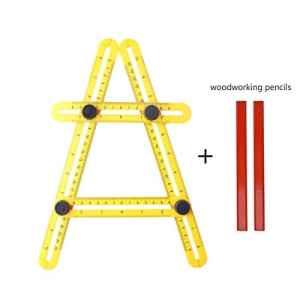 Angle-izer Outil, Outgeek Angle-izer Outil de modèle Règle Multi – angle Instrument de Mesure Multifonctionnel en ABS mit 2 Bleistifte