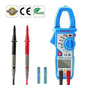 Pince Ampèremétrique AIDBUCKS MT200 Professional Clamp Meter Multimètre numérique LCD résistance Testeur de tension AC Ampèremètre AC / DC Ohmmètre True RMS avec rétro-éclairage