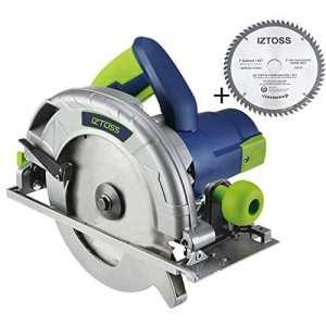 IZTOSS Professional Scie circulaire +1*60T lame,185mm,1600W,Lame Ø180mm x Ø25.4 mm
