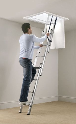Blue Seal Easy Stow 3 Section Aluminium Loft Ladder by Abru Blue Seal