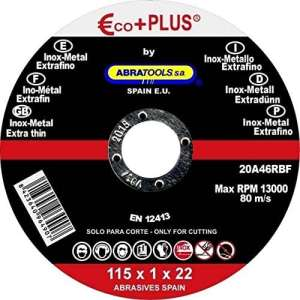 Eco + Plus–Disque de coupe acier inox 115* 1* 22eco-plus–26316