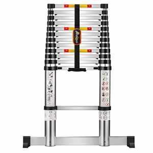 Extension Ladder Loft Extensible Télescopique En Aluminium 3.8 M Échelle Une Échelle Pliante Étapes Extensibles Escalade Échelles Pour Loft Peinture Extérieure Décoration De Noël Nettoyage