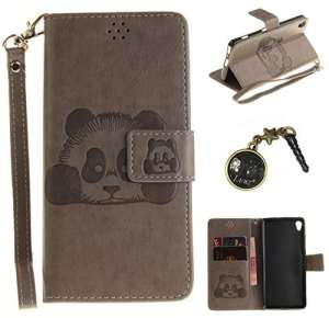 PU Cuir Coque Strass Case Etui Coque étui de portefeuille protection Coque Case Cas Cuir Swag Pour Sony Xperia XA +Bouchons de poussière (10VO)