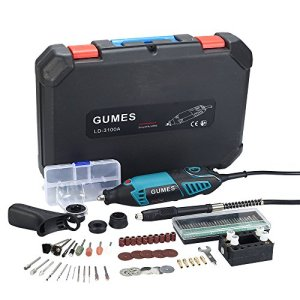 Gemus Avancé Outil rotatif multi-usage(165W)+6 mode de vitesse+80 Accessoires