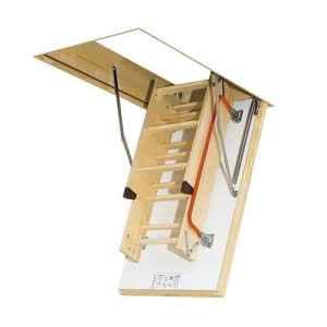 Optistep Ole Bois Bois pliante Loft Échelle et trappe 70cm x 111cm (280cm) grenier escaliers