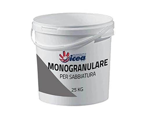 25Kg monogranulare pour sablage 0,7–1,7mm–Sable de basalte lavico abrasif de l'Etna pour sablage et décapants, excellent pour toutes les sabbiatrici
