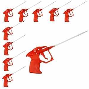 DWT-Allemagne 50x Mousse pistolets, mousse expansive PU Expan Ding Foam Pistolet détanchéité, mousse corps en plastique Pro Heavy Duty Extension Pulvérisateur mousse PU Pistolet pour mousse de construction (PU complet en plastique)