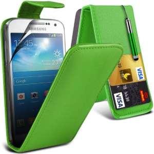 (Vert) Samsung Galaxy S5 Custom Made Personnalisée Faites en simili cuir carte de débit/crédit logement Flip cas couvrir la peau avec protecteur d'écran LCD Guard & escamotable capacitif stylet par * Aventus *