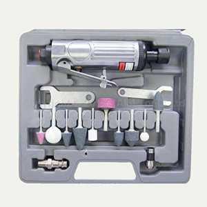212505b 15pcs Justement Mini Air les Grinder Kit ponçage polissage outil w/acc.