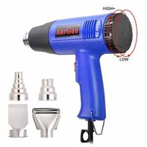 Décapeur thermique,température réglable 60~600℃,Débit d'air 250~500L/min,Idéal pour plier le tuyau en PVC,enlever la colle,libérer les vis rouillées,avec 4 buses résistantes-Bleu