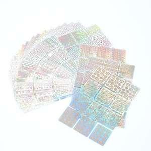 Naler Cadeau de Fête des Mères 288 Nail Sticker Délicat Nail Art Manucure Pointes Nail Tips Décorations (96 Modèles, 24 Feuilles)