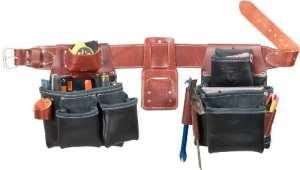 Occidental Leather B5080DBLH XXL Ceinture porte-outils à 2 sacs pour gaucher Noir TailleXXL