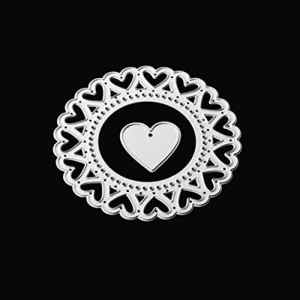 Sunyoyo Matrice en métal de coupe Dies, rectangulaire Cercle faite à la main en métal de coupe Dies- DIY Scrapbooking Album de gaufrage papier carte Craft Die Handcrafts Outil, Love circle, Taille unique