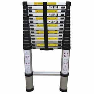 Varan Motors dlt214b Aluminium échelle simple échelle télescopique 4,4m, 15échelons