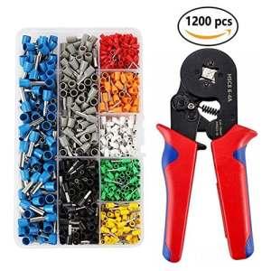Queta Pince à Sertir Presse Pinces Outils 1200 Boîtes à Bornes Pince à Sertir Presse Pinces Outils 0,25–10 mm² Electricien Bornes à Sertir Isolées