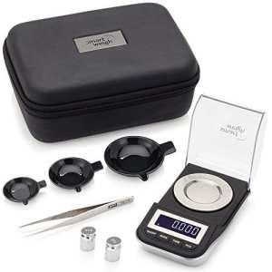 Smart Weigh Mini Balance de Precision Bijoux, 50g/0.001g, Lisibilité de 0.001g, Milligramme Balance de Bijoux Avec Fonction de Tare Incluse (Noir)