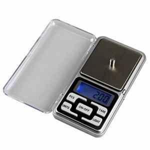VORCOOL Bijoux Pocket Balance pesage 200g par 0.01 g Mini Digital LCD Gram Scale