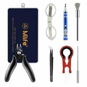 Cigarette électronique accessoires, bricolage outils ensemble, ciseaux en céramique Tweezer coupe-fils brosse tournevis multifonction outil à main